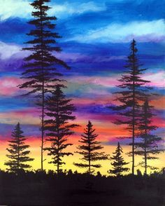 Sip And Paint Night West Vancouver Sunset