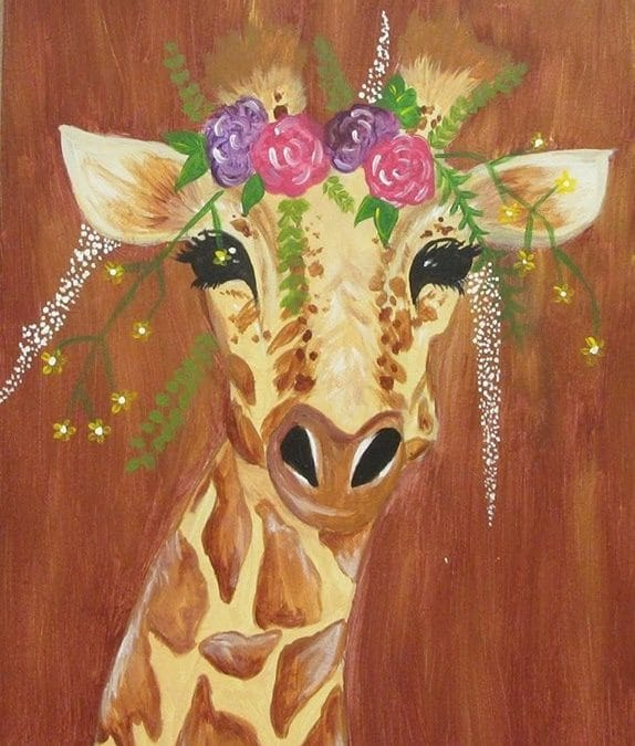 Sip and Paint Friday – Girlie Giraffe
