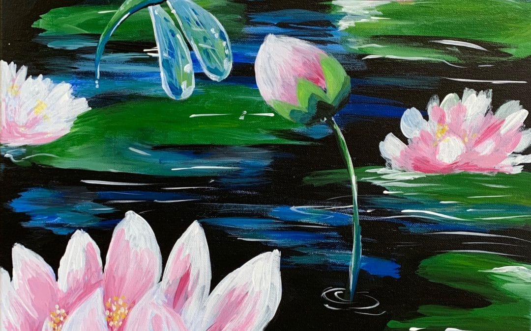Sip and Paint – Dragonfly and Lily Pond