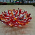 Coral Bowl Glass Fusing