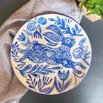 Pottery Painting Workshop – Folk Art Rabbit Platter