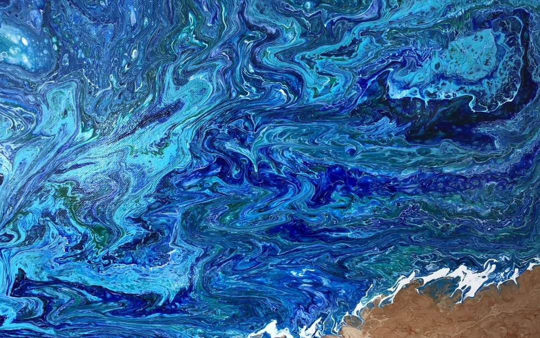 Sip and Paint – Acrylic Pour on Canvas
