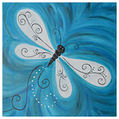Spring Break Camp – Dragonfly Lit up Canvas