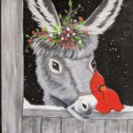 Virtual Sip And Paint – Dominick the Italian Christmas Donkey