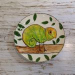 Spring Camp Fun – Watercolour Chameleon Pottery Painting Age 8+