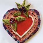 Textured Heart Wall Vase
