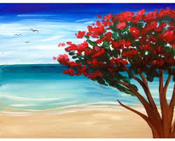 Sip and Paint – Azalea on the Beach