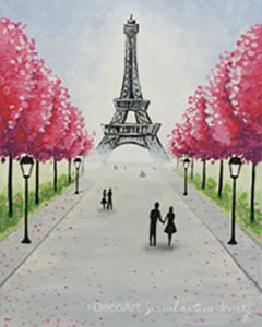 Sip and Paint – Eiffel Tower