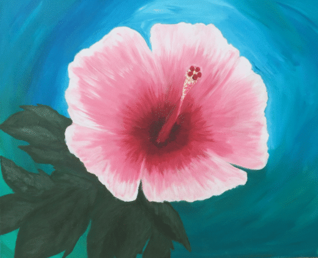 Sip and Paint Night – Hibiscus