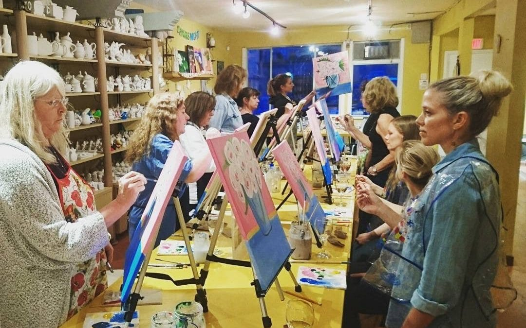 Sip and Paint Canvas Evening is moving to Friday starting July 14